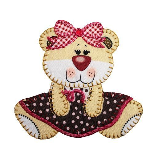 Aplique termocolante Urso C042 -10 cm