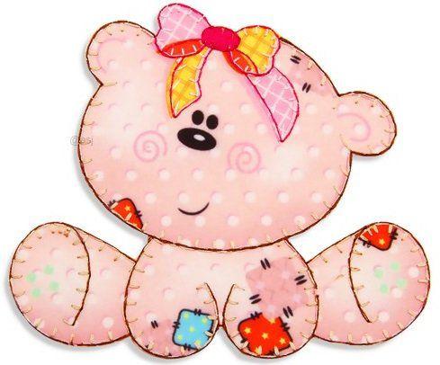 Aplique termocolante Urso C090 -10 cm