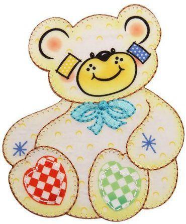 Aplique termocolante Urso C093 -10 cm