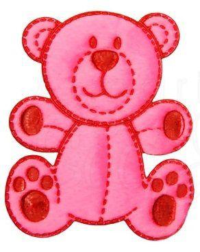 Aplique termocolante Urso C098 -10 cm