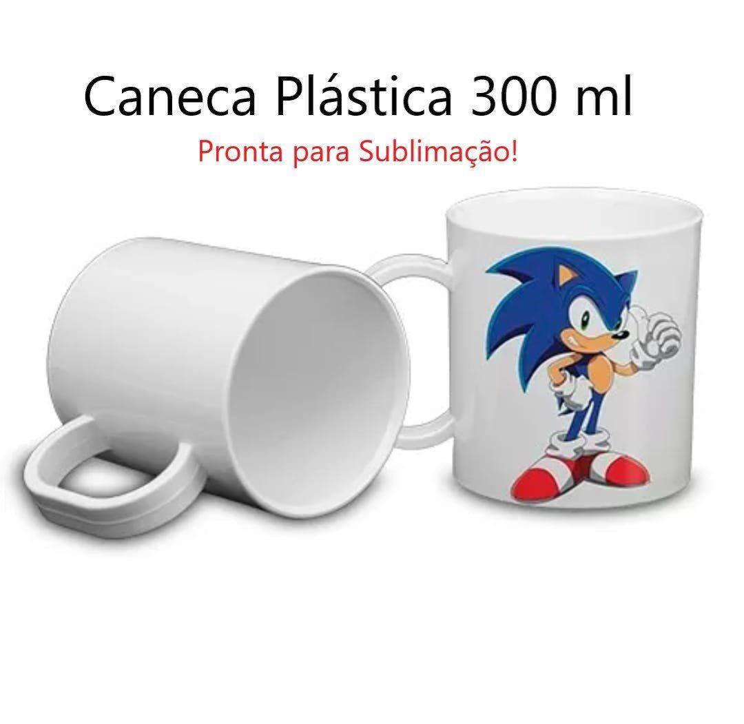 Caneca Plastica Para Sublimação 300ml - Qualidade AAA