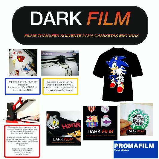 Dark Film - Transfer Solvente para camisetas escuras- 1 mt