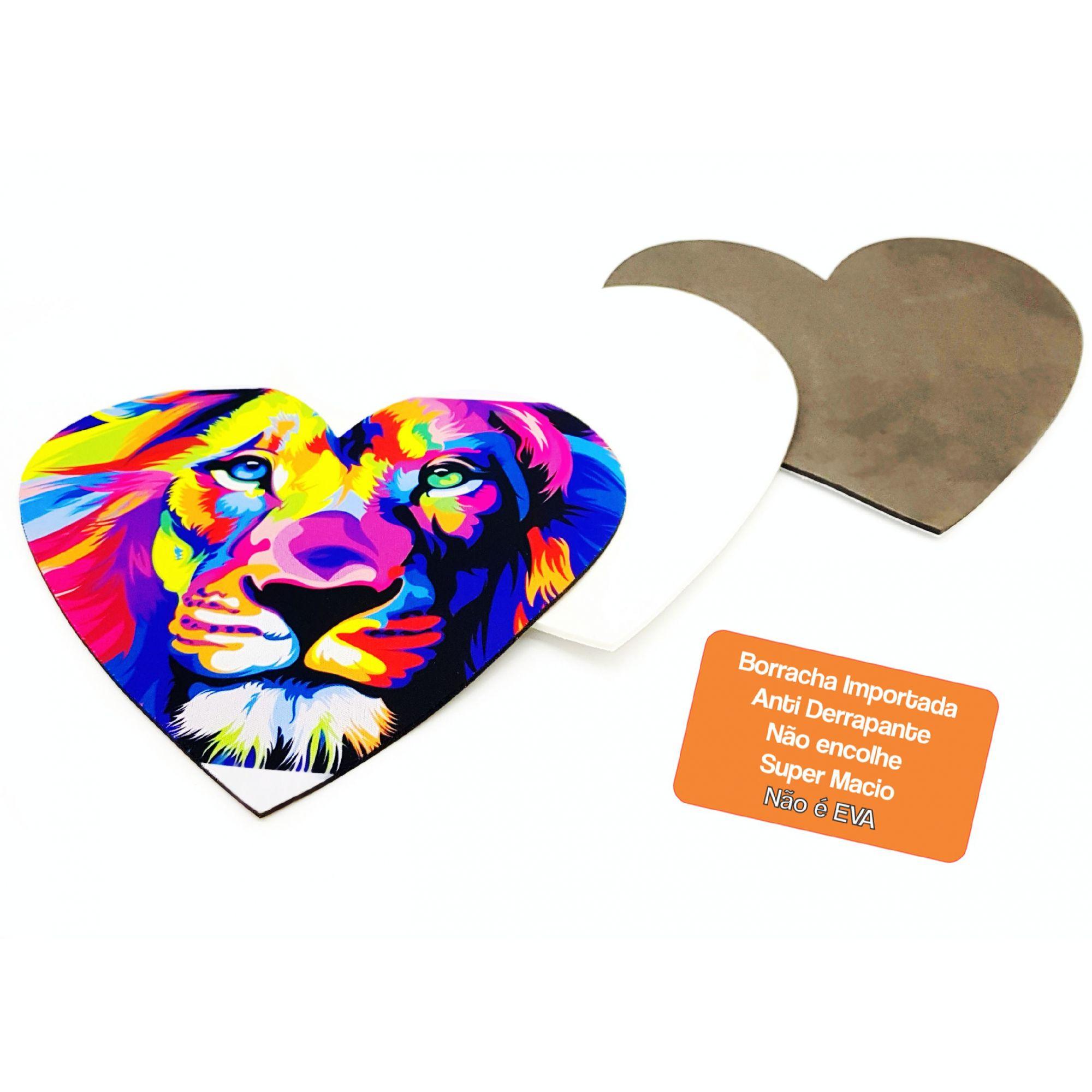 Mouse Pad Sublimação Coração Borracha