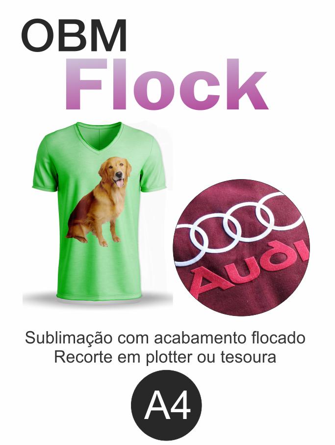 OBM Flock - Fundo Branco Sublimatico Flocado - A4