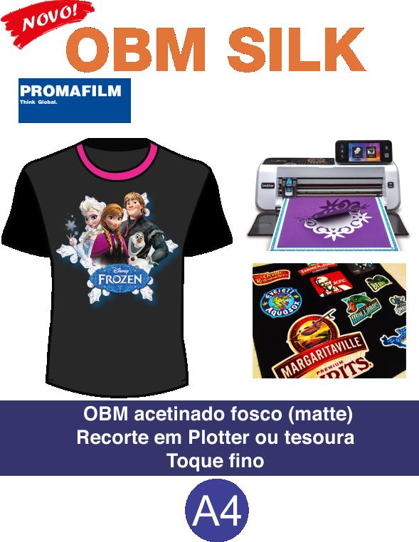Papel Obm A4 Original Para Camisetas Escuras A4 - 20 Folhas