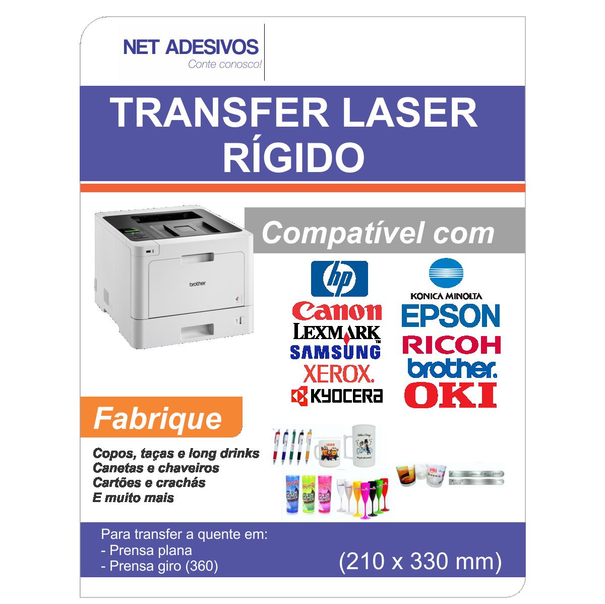 Papel Transfer Laser Rigido - 210 x 330 mm