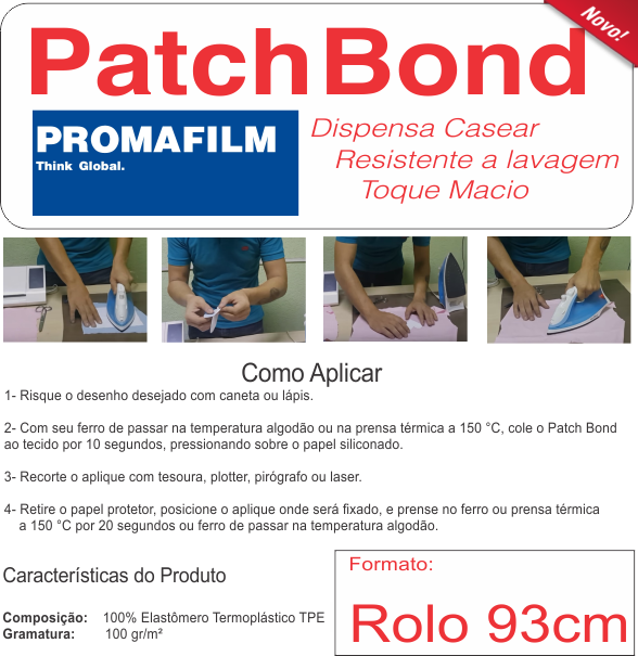 PATCH BOND - Termocolante Definitivo para Patchwork - 93 cm