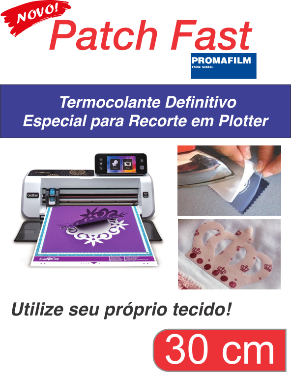 PATCH FAST - Termocolante Definitivo para Plotter - 30 CM