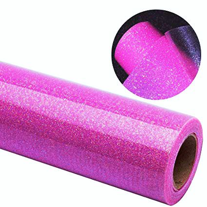 Power PU Filme Glitter Sublimático - Pink - 50 cm