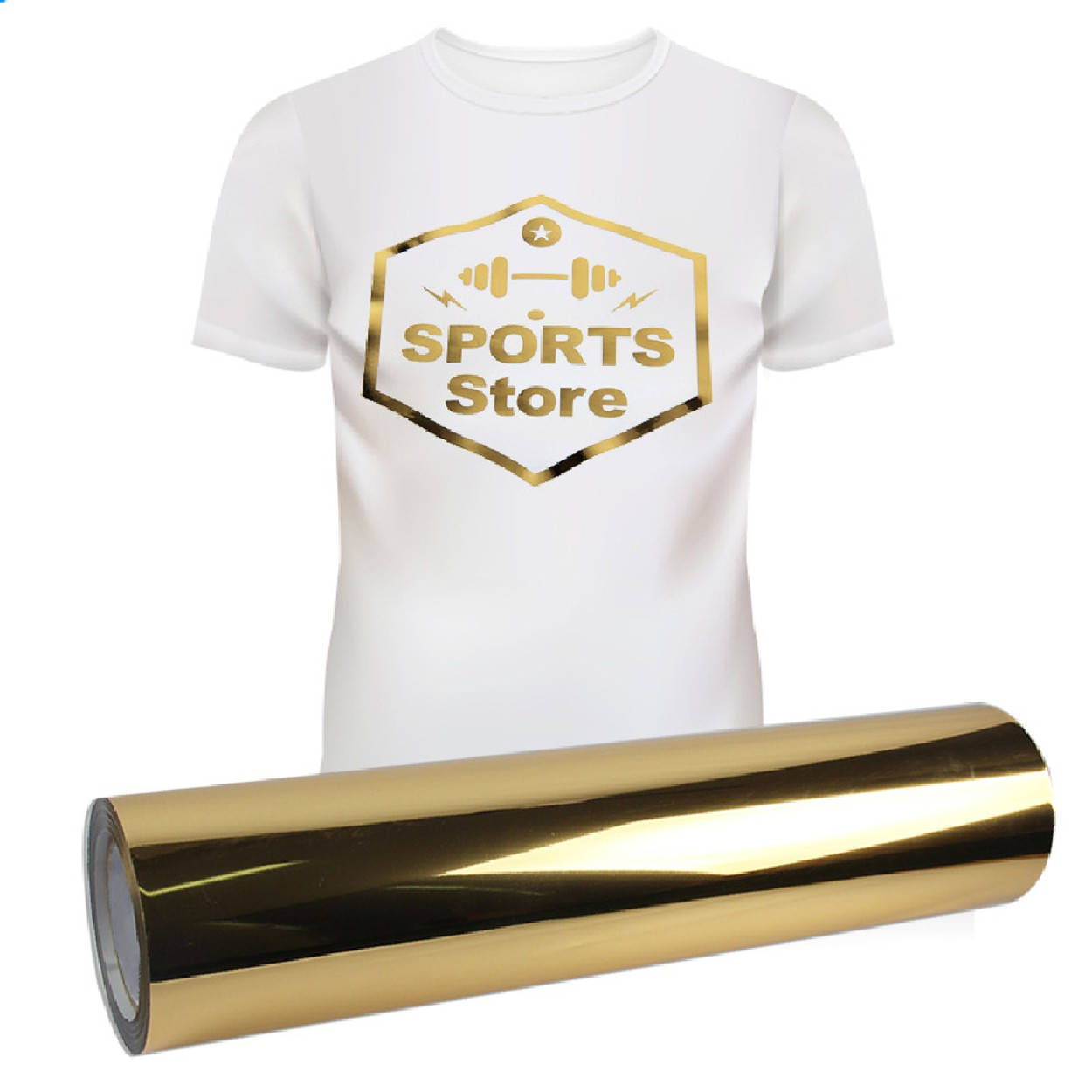 Power PU Metalico Ouro - 50 cm
