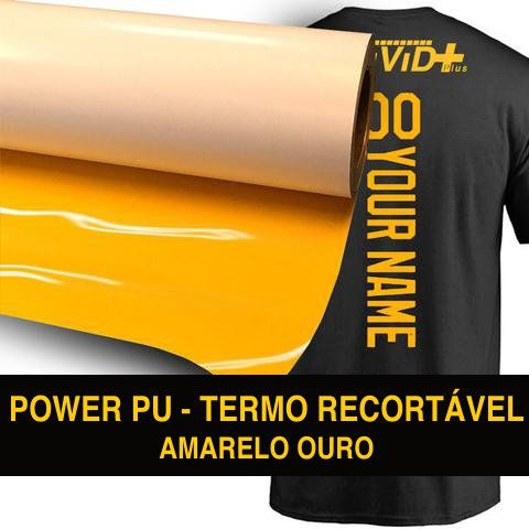 Power PU - Termocolante Recortável - Amarelo Ouro - 31 cm