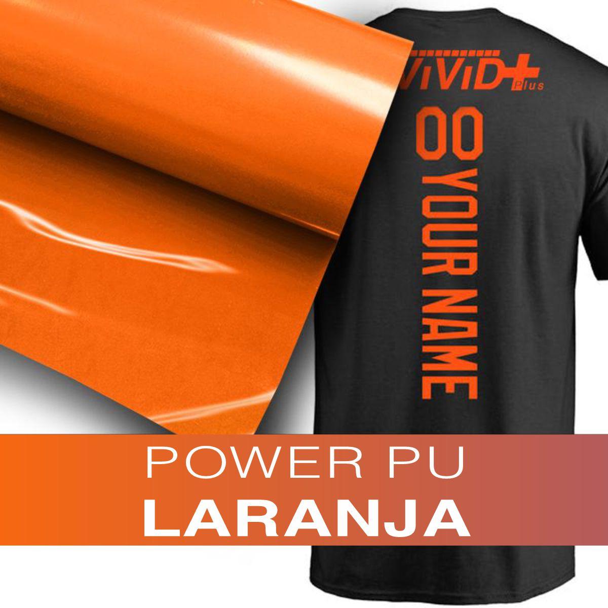 Power PU - Termocolante Recortável - Laranja - 60 cm