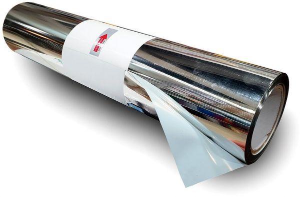 Power PU - Termocolante Recortável - Prata Metalico - 60 cm