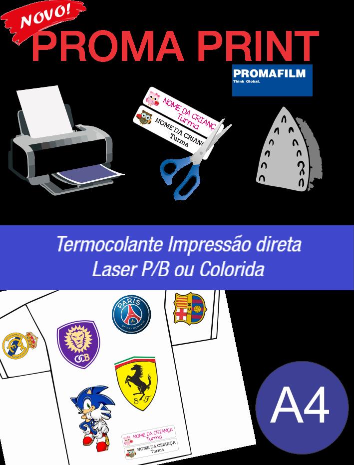 Proma Print - Termocolante Impressão Direta Laser - A4