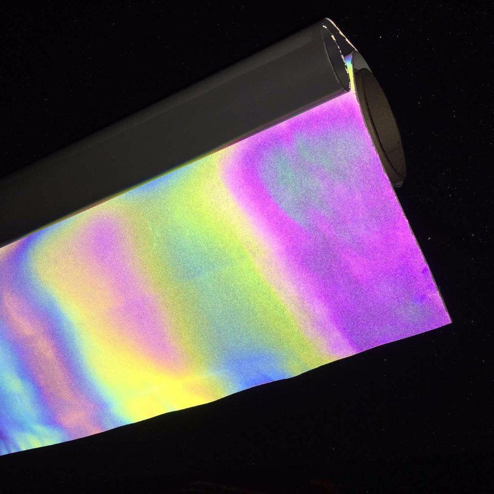Refletivo Termocolante Arco Iris para plotter - 30 cm