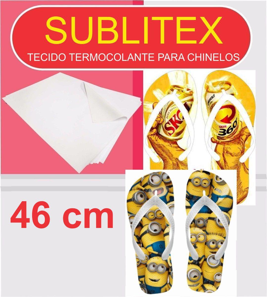Sublitex - Tecido Termocolante para Sublimação Chinelos - 46 cm