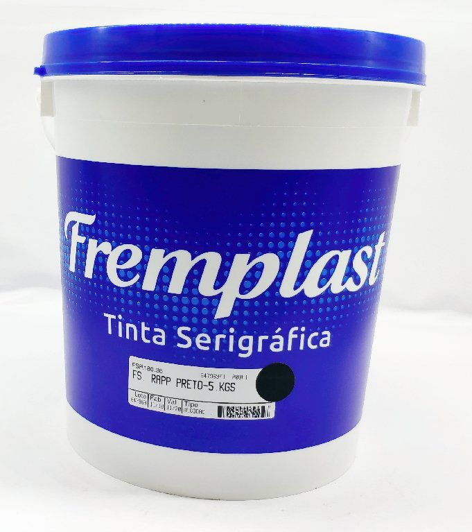 TINTA SERIGRAFIA ALGODÃO - PRETO - 5 KG