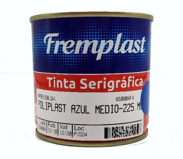 TINTA SERIGRAFIA POLIETILENO AZUL MÉDIO - 225 ml