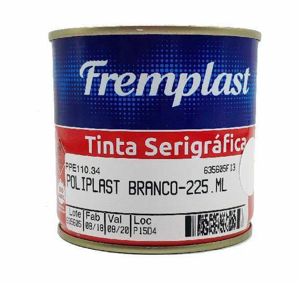 TINTA SERIGRAFIA POLIETILENO BRANCO - 225 ml