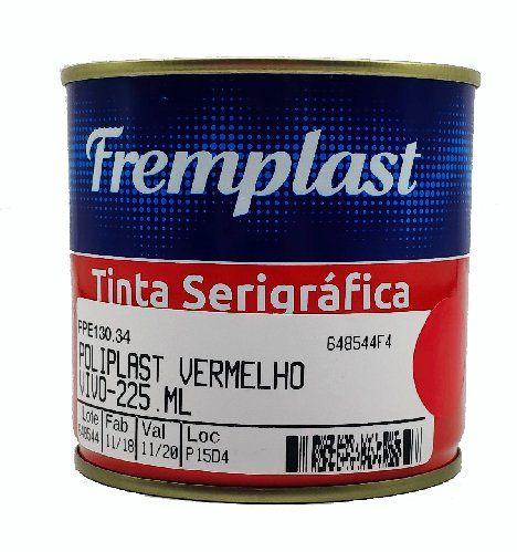 TINTA SERIGRAFIA POLIETILENO VERMELHO VIVO - 225 ml