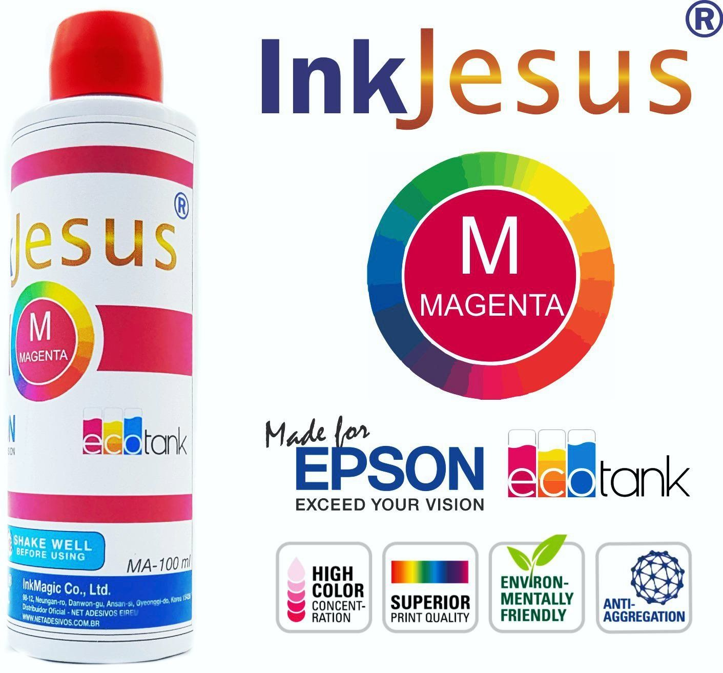 Tinta Sublimática InkJesus 400ml + 200 Papel Sublimático A4 + Icc