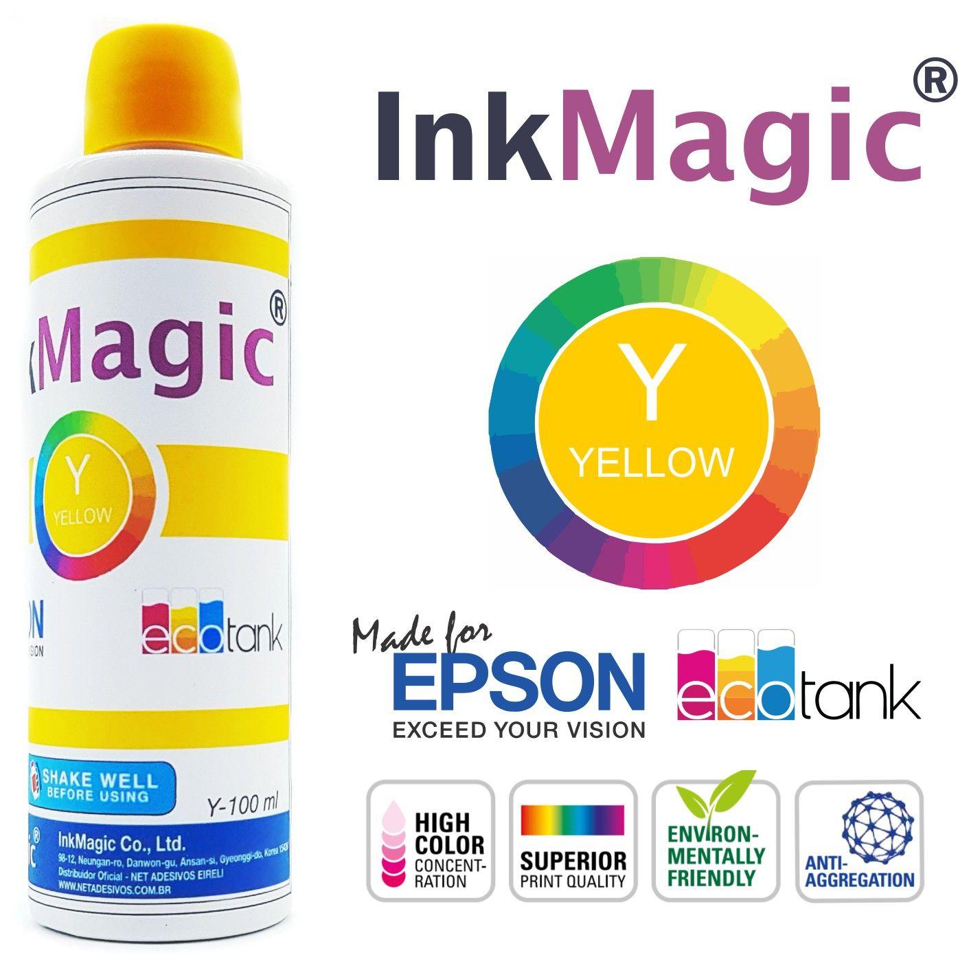 Tinta Sublimática InkMagic 400ml + 50 Obm A4 + Icc