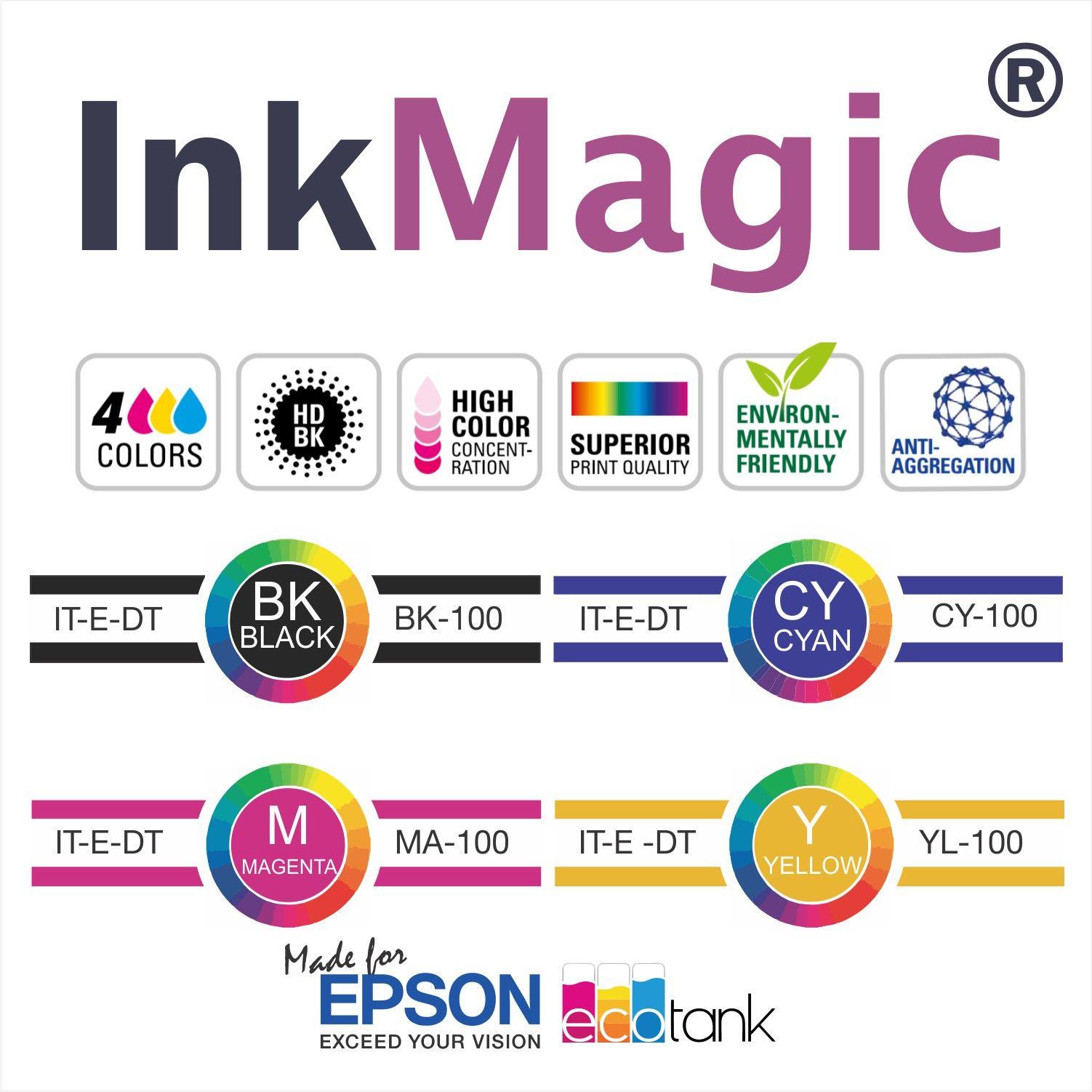 Tinta Sublimática InkMagic 7 X 100 Ml - Escolha A Cor