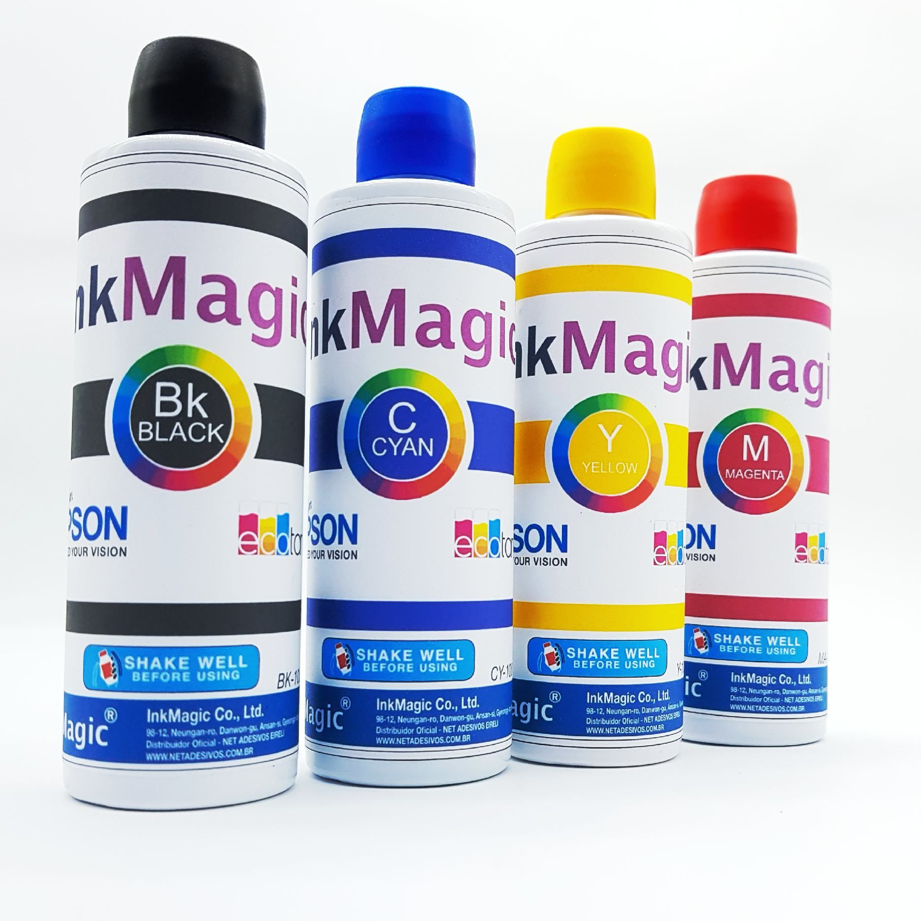 Tinta Sublimática InkMagic 8 X 100 Ml + 500 Papel Sublimático A4