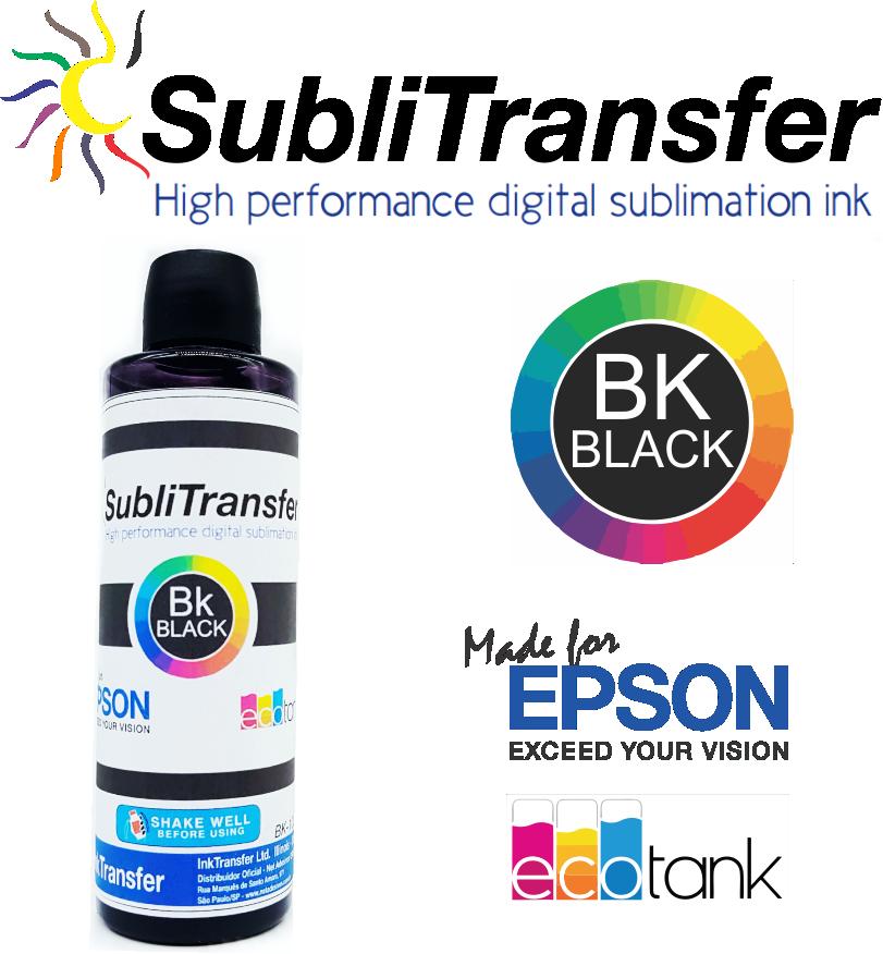 Tinta Sublimática InkTransfer 8 X 100 Ml + 500 Papel Sublimático A4