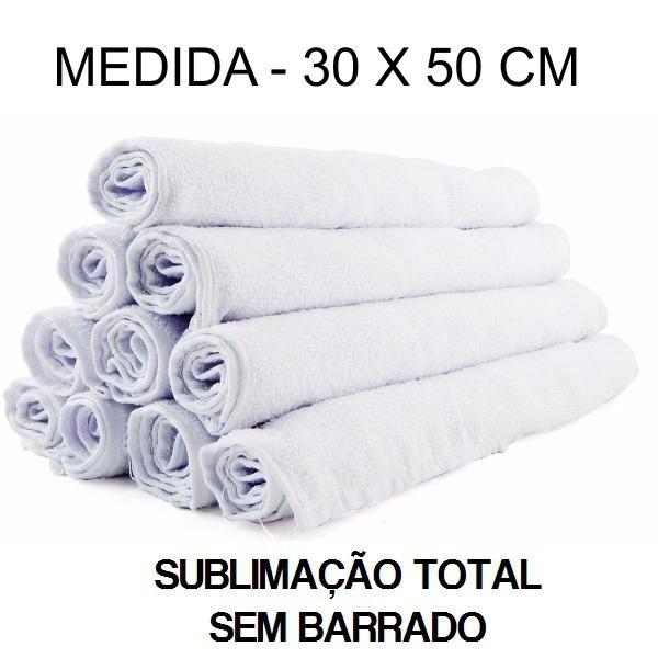 Toalha Lavabo Sublimação Total - 30 x 50 cm