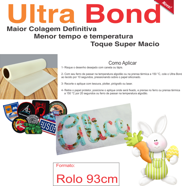 ULTRA Bond - Termocolante Forte Bordado e Patch - 93 cm