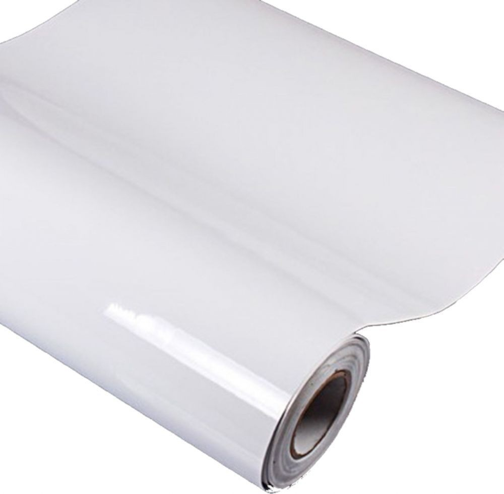 Vinil Adesivo Branco p/ Recorte Silhouette Scrapbook - 30 cm