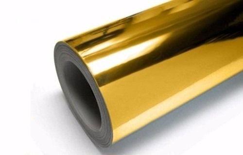Vinil Adesivo Ouro Metalico p/ Envelopamento - 60 CM