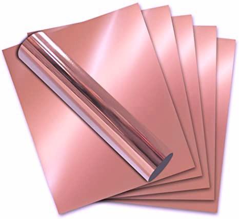 Vinil Adesivo Rose Gold p/ Envelopamento - 60 CM