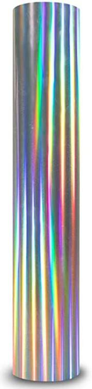 Vinil Auto Adesivo Envelopamento Holografico Prata - 60 CM