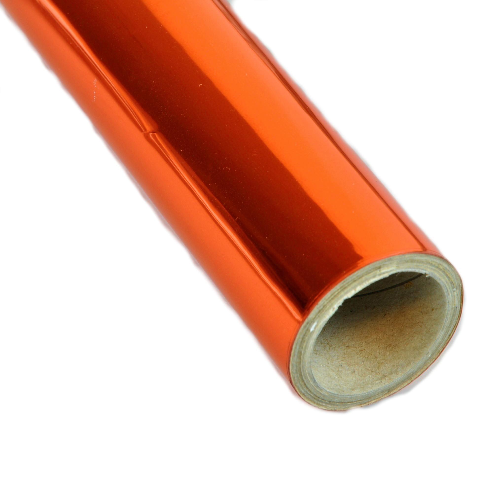 Vinil Laranja Metalico p/ Envelopamento - 60 CM