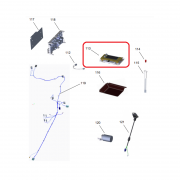Conjunto Placa Interface e Isolação Fogão Brastemp BFS5GCR Original W11229884