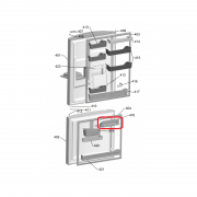 Porta Taças Geladeita Brastemp Ative Max e Side By Side W10436951 Original