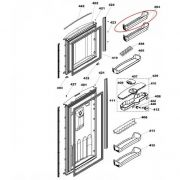 Prateleira da Porta Congelador Original Geladeira Brastemp W10164001