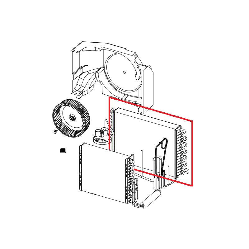 Condensador 15 Filas para Ar Condicionado Consul W10255188 Original