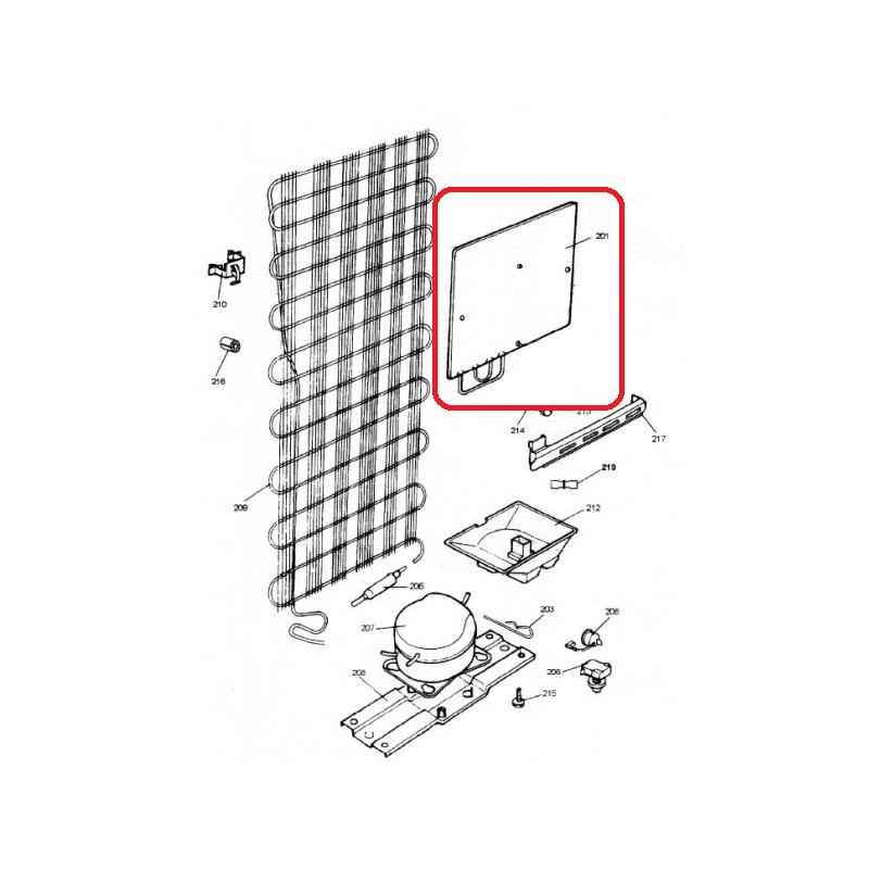 Evaporador Externo para Refrigerador Brastemp e Consul 004227166 Original