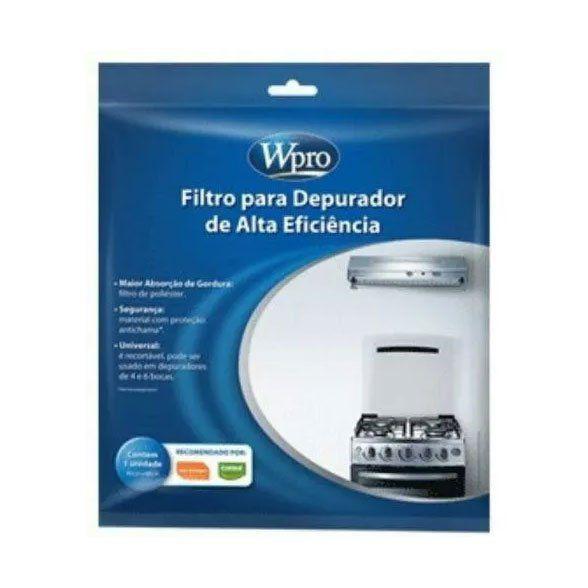 Filtro Manta Coifa Depurador Brastemp e Consul uma unidade 80X60 recortável Original 326076616