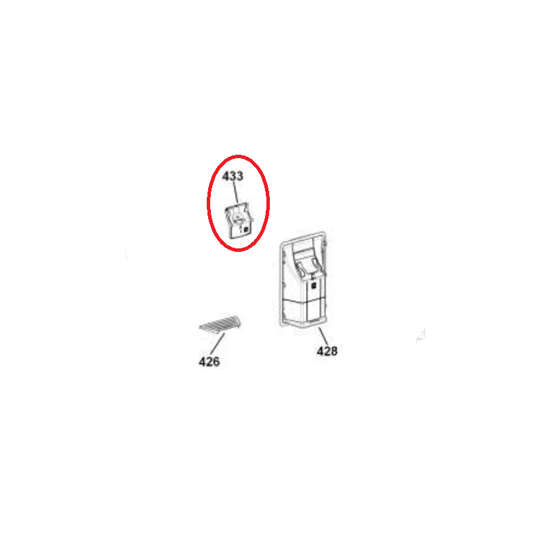 Interruptor do Dispenser Geladeira Brastemp BRW50 Original W10347214