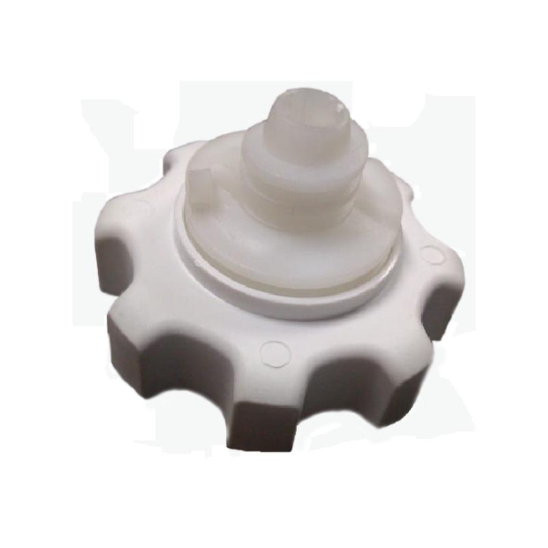 Pé Nivelador com Rodízio Plástico Geladeira e Freezer Brastemp Consul Original 326040348