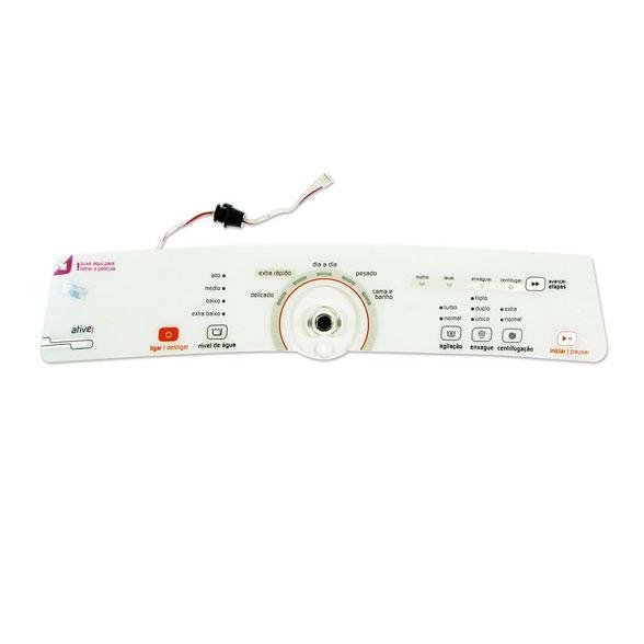 Placa Eletrônica Lavadora Brastemp Ative 11 kg BWH11 Interface Cj Console Original W10706117