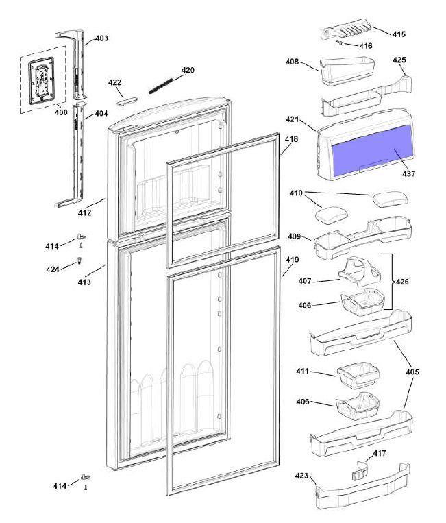 Porta Compartimento Sorvete Geladeira Brastemp Original