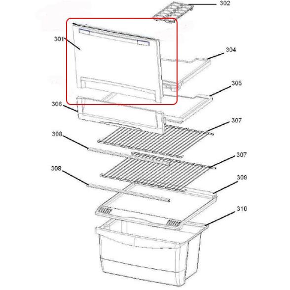 Porta Congelador Original Geladeira Consul CRB36/39 CRG36 W10887036