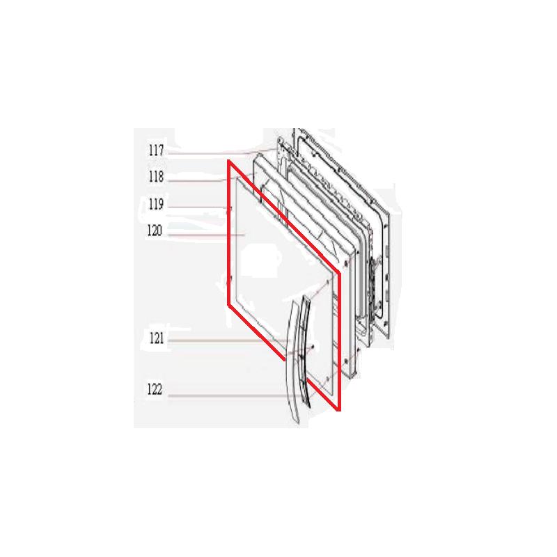Visor da Porta Microondas Brastemp BMS35A Original 326063894