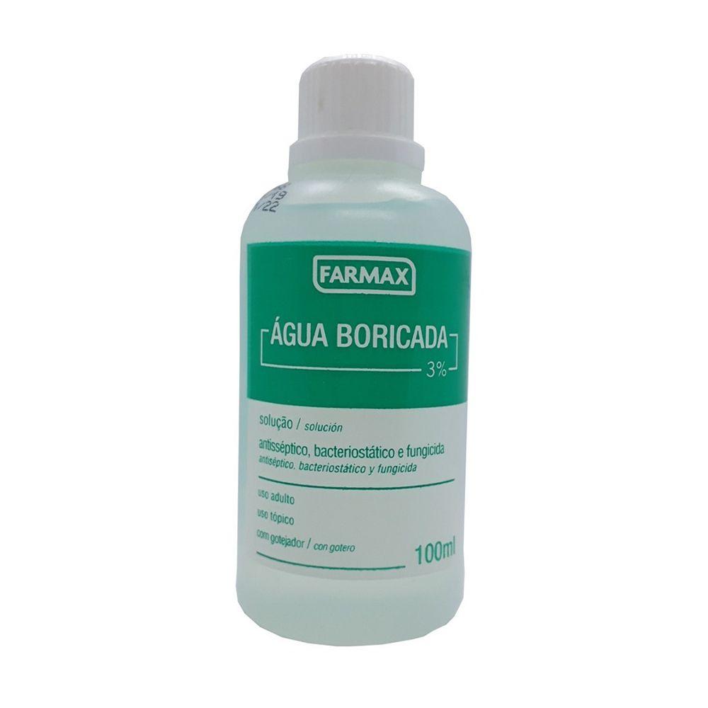Água Boricada Farmax - 100 ml