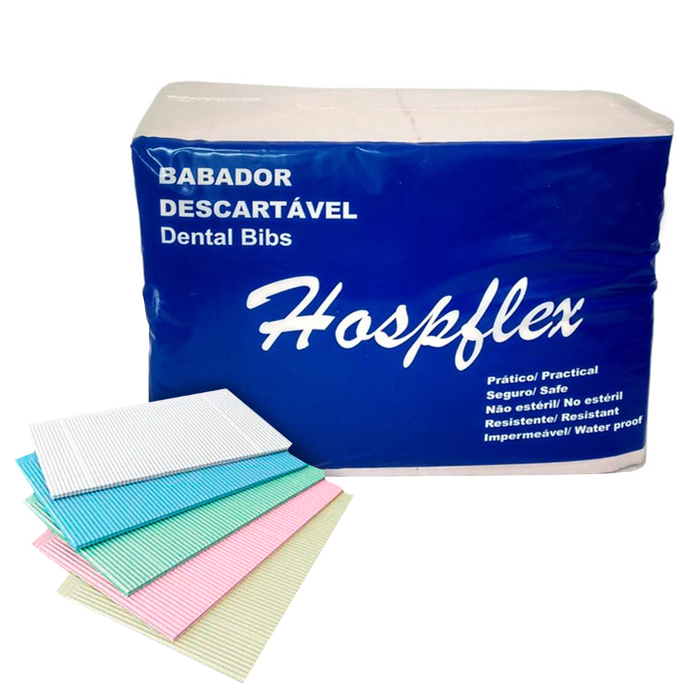 Babador Impermeável Hospflex c/100